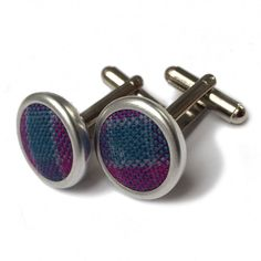 Made in Scotland from the Dunans Rising tartan, these cufflinks are suitable for formal kiltwear, blacktie events and informal country weekends - whenever you wear a smart shirt in fact. Wear with our Dunans Rising Bowtie and Cummerbund! Black Tie, Tartan, Cufflinks, Scotland, Castle, How To Wear, Accessories, Watch, Wedding