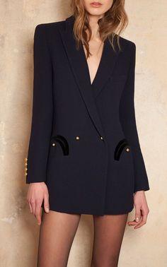 Monogrammable Essentials Resolute Everyday Wool Blazer by Blazé Milano - Panissue Share Blazer Outfits, Blazer Fashion, Blazer Dress, Suit Fashion, Look Fashion, Winter Fashion, Fashion Outfits, Womens Fashion, Tuxedo Dress