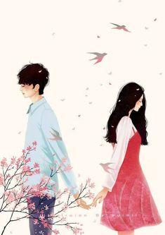 Pin by kimberly cabreros on wattpad covers Couple Manga, Anime Love Couple, Cute Anime Couples, Art Anime, Anime Art Girl, Couple Illustration, Illustration Art, Character Illustration, Couple Drawings
