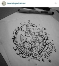 Check it out Potter Heads! Harry Potter Tattoos To Inspire Your Magical Mind Harry Potter Tattoos, Harry Potter Drawings, Harry Potter Art, Harry Potter Sketch, Diy Tattoo, Tattoo Fonts, Tattoo Quotes, Tattoo Ideas, Tattoo Designs
