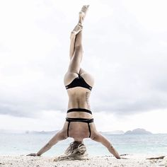 """""""Just as the body cannot exist without blood, the soul needs the matchless and pure strength of faith."""" ~ Mahatma Gandhi ✨ #yogapose : @ashleygalvinyoga"""