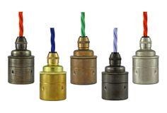 ES E27 Brass & Bronze Lamp/Bulb Holder. Ideal for Vintage Edison Filament Bulbs