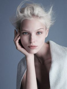 Sasha Luss photographed by Luigi Daniele & Iango for Exhibition magazine.