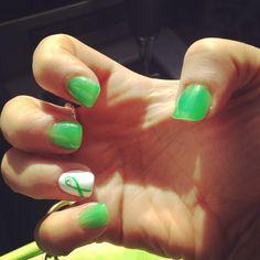 Non-Hodgkin's Lymphoma awareness nails. Cancer nails.