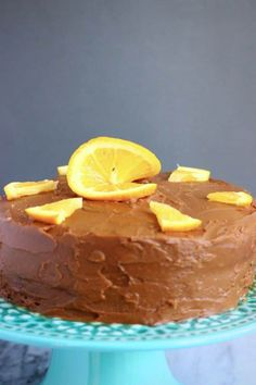 Gluten-Free Vegan Chocolate Orange Cake