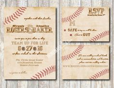 The Vintage Baseball Collection Set by HomemadeWithLoveWed