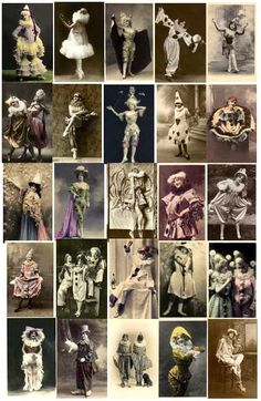Everything Vintage Women Clowns, Puppets and Pierrot Costume Images to Download