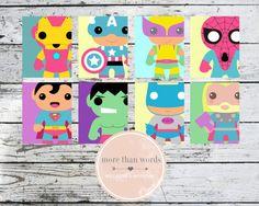 Avengers Superhero Nursery Prints Set in by MoreThanWords17