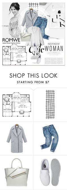 """# IV/10 Romwe"" by lucky-1990 ❤ liked on Polyvore featuring Equipment, Vans and romwe"