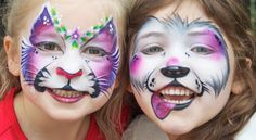 Face Painting Designs for beginners and pros. Animals and tribal, kids and adults will love to try face painting designs Dog Face Paints, Mime Face Paint, Girl Face Painting, Painting For Kids, Face Painting Tutorials, Face Painting Designs, Painting Patterns, Paint Designs, Animal Face Paintings