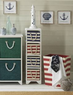Stripes a great way to show your red white and blue spirit around the 4th of July holiday and add a nautical touch throughout the year!