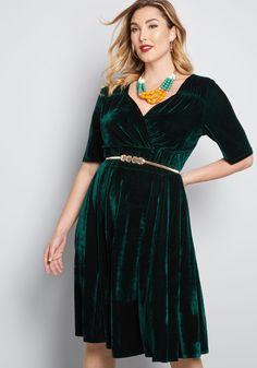 7be0c407b8f Collectif x MC Vixen Match Velvet Midi Dress. Velvet Dress Plus SizeGreen  ...