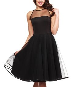 Look at this Black Fit & Flare Gown on #zulily today!