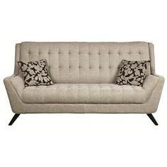Natalia Retro Sofa w/ Flared Arms....This is my new sofa but it's light grey.