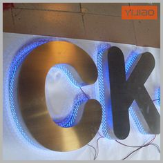 acrylic led sign boards backlit led channel letter signage to showing shop logo
