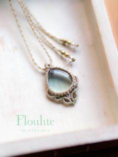 フローライト/マクラメ/マクラメ編み/ペンダント/天然石