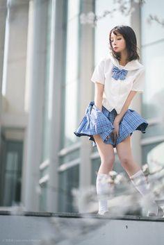 Pin by Sliceof_art on girl in 2019 Japanese School Uniform Girl, School Girl Japan, School Girl Outfit, School Uniform Girls, Japan Girl, Girl Outfits, Girls School, High School, Summer Outfits