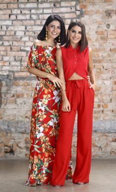 Inspirações fashion para as festas de final de ano com Alice Ferraz e Camila Coelho com looks vermelhos