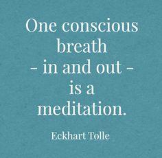 One conscious breath ❤️
