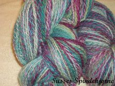 Handspun hand dyed lace yarn by SussesSpindehjrne on Etsy, $50.00