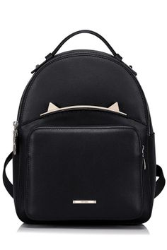 218cb22f8a cat ears backpack Cowhide Bag