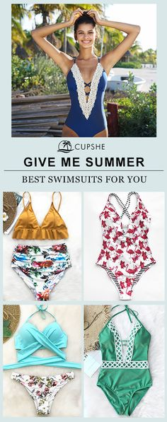 Give me endless summer! It's easy to be happy when you have a delightful bikini to wear in your summer holiday. With much love, we bring you this collection and want you to be happy the whole summer. Free shipping & Shop now.