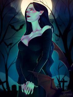 Mari Draws — Felt like drawing a vampire today ! Dark Fantasy Art, Fantasy Girl, Fantasy Artwork, Dark Art, Female Vampire, Vampire Girls, Vampire Art, Gothic Vampire, Character Inspiration