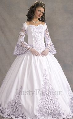This is a beautiful wedding gown!
