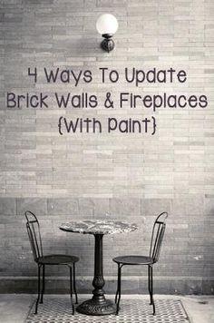 4 Ways To Update Brick Walls  Fireplaces