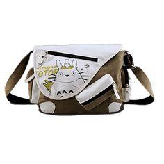 Bonamana japanischen Anime Cosplay Schulter-Beutel-Schultasche Messenger Bag Umhängetasche Tasche für Teen (Totoro)
