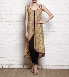 RAVAGE - Beige Printed Cotton Jacket FLAT 70% OFF!! Click on the photo to shop! :) *Limited period offer!