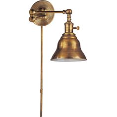 Visual Comfort E.F. Chapman Boston Swing Arm in Hand-Rubbed Antique Brass with SLE Shade SL2920HAB/SLE-HAB