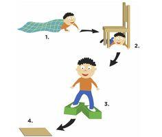 Faire un parcours d'obstacles avec des coussins et/ou des meubles