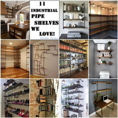Condo Blues: 11 Creative Ways to use Industrial Pipe Shelves #DIY #space #kitchen #design #home #decor