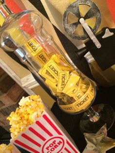 Movie & Popcorn Movie Night Party Ideas!  See more party ideas at CatchMyParty.com!