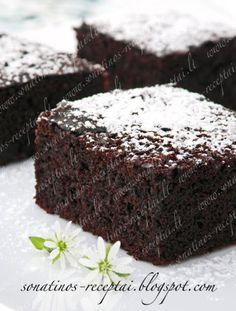 Sonatinos receptai: Drėgnas šokoladinis pyragas