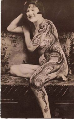 39 Gorgeous Vintage Photos of Tattooed Ladies in the Late 19th and Early 20th Centuries