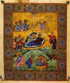 Christian Artwork, Home Altar, Illuminated Manuscript, Byzantine, Nativity, Bohemian Rug, Religion, Illustration Art, Rugs