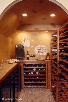 Walk in wine cellar for a small space - mediterranean - wine cellar - newark - by Marlene Wangenheim AKBD, CAPS, Allied Member ASID