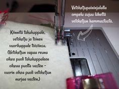DIY: Pussukka tuplavetoketjulla - Punatukka ja kaksi karhua Sewing Patterns, Bags, Totes, Handbags, Patron De Couture, Dress Patterns, Bag, Hand Bags