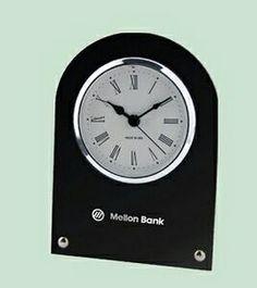 us made studded black desk clock - Designer Desk Clock