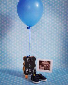 Baby boy announcement.