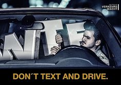 Deutsche Verkehrswacht: Don't text and drive #ads
