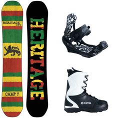 NEW 2013 Heritage Snowboard Package + System APX Bindings + APX Boots -