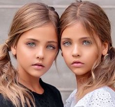 "Adorable and gorgeous. As a director I'm thinking ""Ghost Girls"". Pretty Kids, Beautiful Little Girls, Beautiful Children, Beautiful Eyes, Beautiful Babies, Cute Twins, Cute Girls, Cute Babies, Little Girl Models"