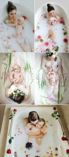 How to Pose Parents with Newborn Baby 6 Stress-Free Baby Photo Poses! Baby Milk Bath #ParentingPhotography