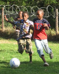 The Lads playing football at the Human Dignity Centre, Walmer Township, Port Elizabeth