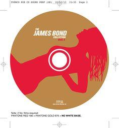 The James Bond collection CD onbody disc 3. Client: Silva Screen Records. Circa 2002. © Sean Mowle.