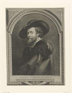 Paulus Pontius   Portret van de schilder Peter Paul Rubens, Paulus Pontius, Peter Paul Rubens, 1630  