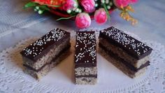 Fotorecept:Orechové rezy s čokoládovou plnkou.